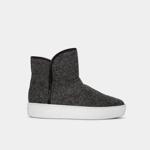 Woody Mid - Dark Grey Wool-Public Relations Footwear