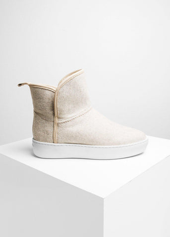 Woody Mid Ivory Wool-Public Relations Footwear