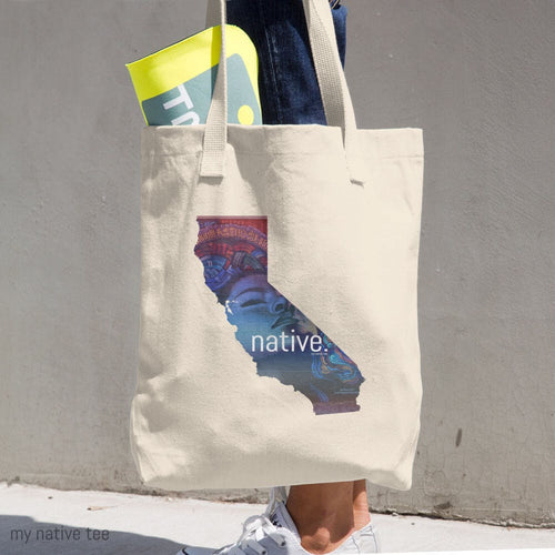 California Native Cotton Tote Bag My Native Tee