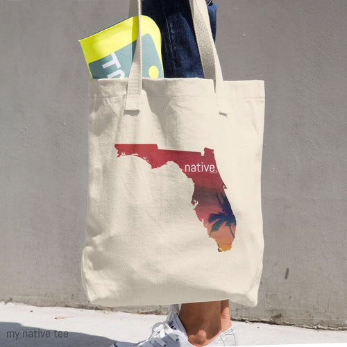 Florida Native Cotton Tote Bag My Native Tee