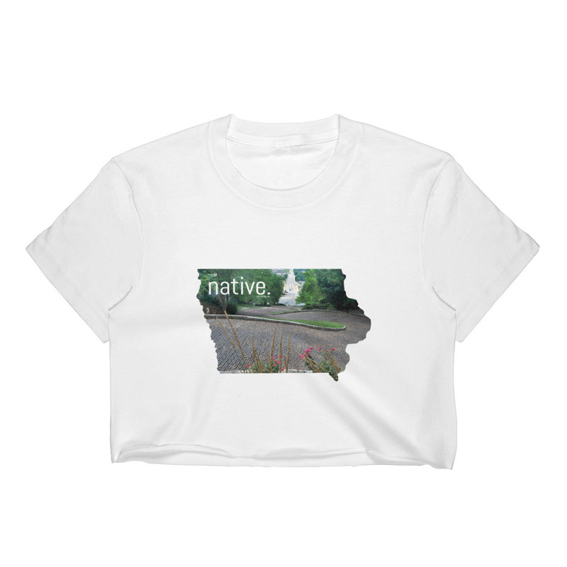 Iowa Native Women's Crop Top