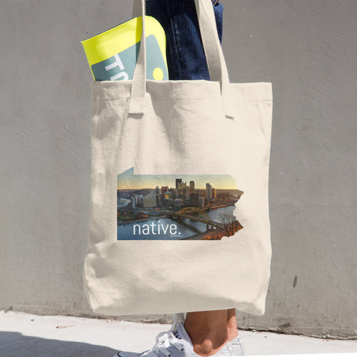 Pennsylvania Native Cotton Tote Bag