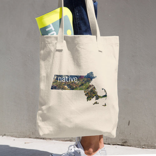 Massachusetts Native Cotton Tote Bag