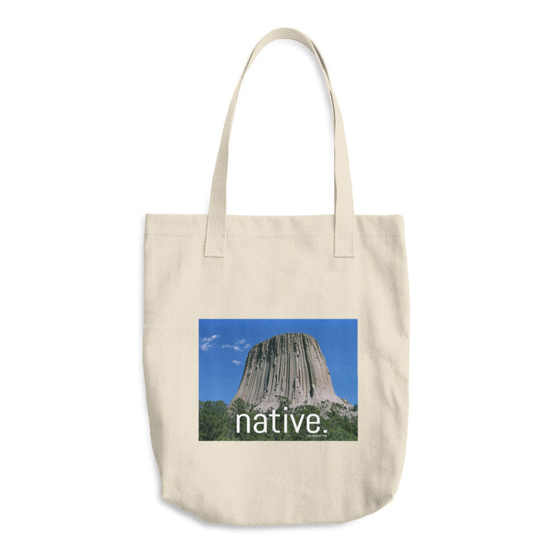 Wyoming Native Cotton Tote Bag