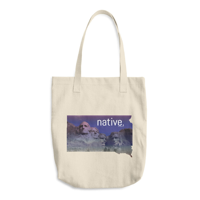 South Dakota Native Cotton Tote Bag