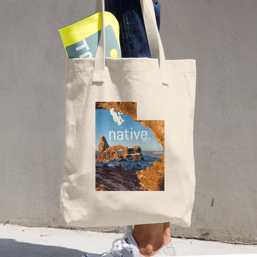 Utah Native Cotton Tote Bag
