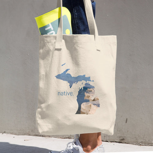 Michigan Native Cotton Tote Bag