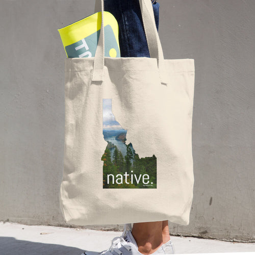 Idaho Native Cotton Tote Bag