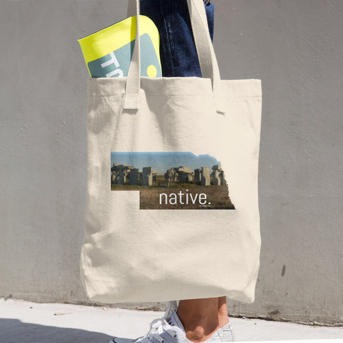 Nebraska Native Cotton Tote Bag