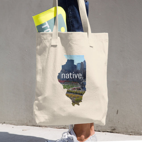 Illinois Native Cotton Tote Bag