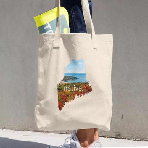 Maine Native Cotton Tote Bag