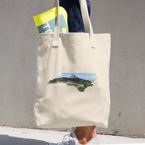 North Carolina Native Cotton Tote Bag