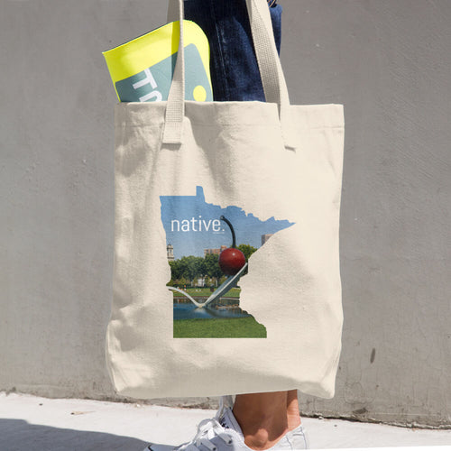 Minnesota Native Cotton Tote Bag