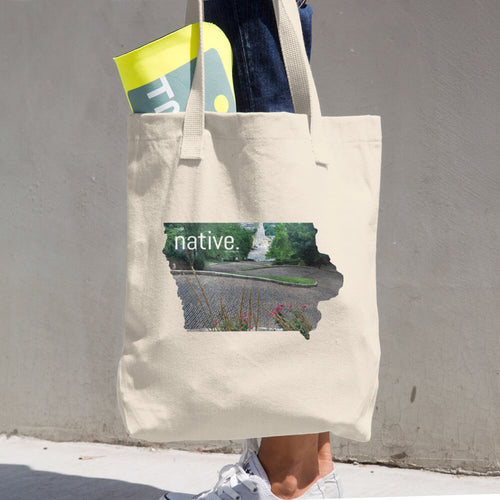Iowa Native Cotton Tote Bag