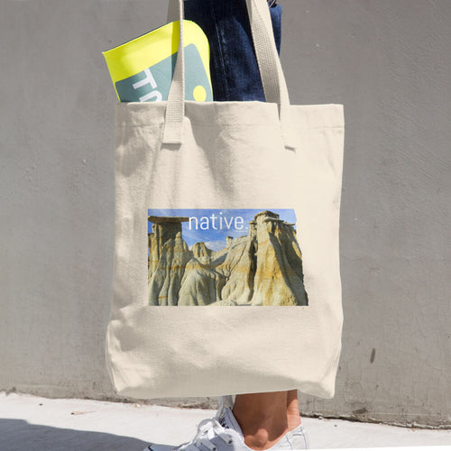 North Dakota Native Cotton Tote Bag