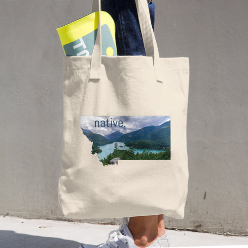 Montana Native Cotton Tote Bag