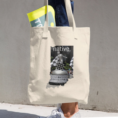 Indiana Native Cotton Tote Bag