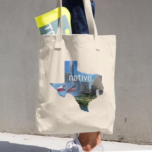 Texas Native Cotton Tote Bag