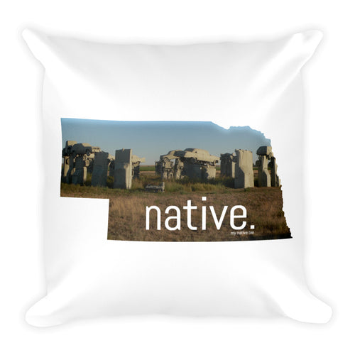 Nebraska Native Pillow