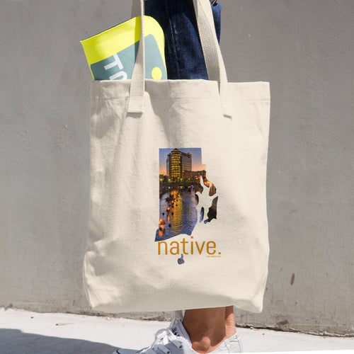 Rhode Island Native Cotton Tote Bag
