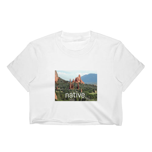 Colorado Native Women's Crop Top