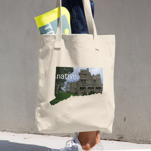 Connecticut Native Cotton Tote Bag