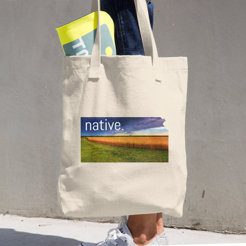 Kansas Native Cotton Tote Bag