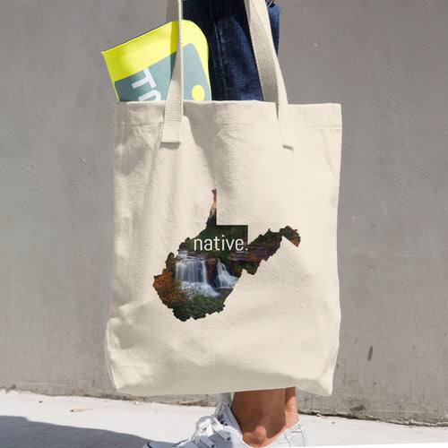 West Virginia Native Cotton Tote Bag
