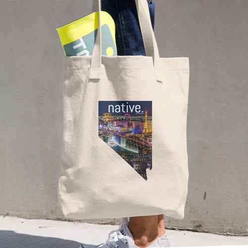 Nevada Native Cotton Tote Bag