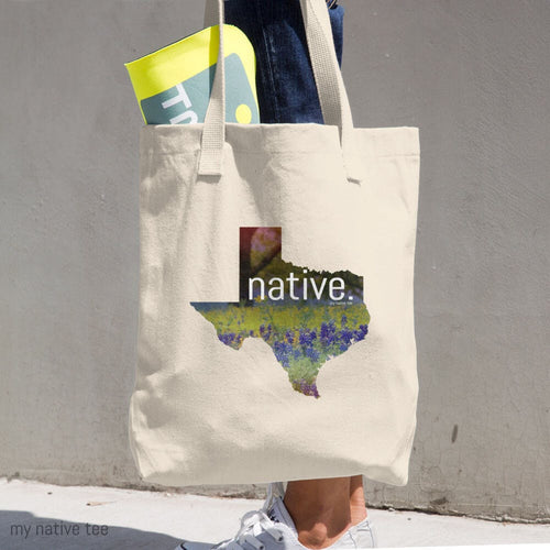 Texas Native Cotton Tote Bag My Native Tee