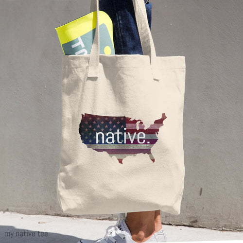 US Native Cotton Tote Bag My Native Tee