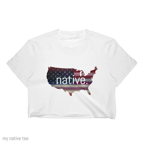 US Native Women's Crop Top My Native Tee