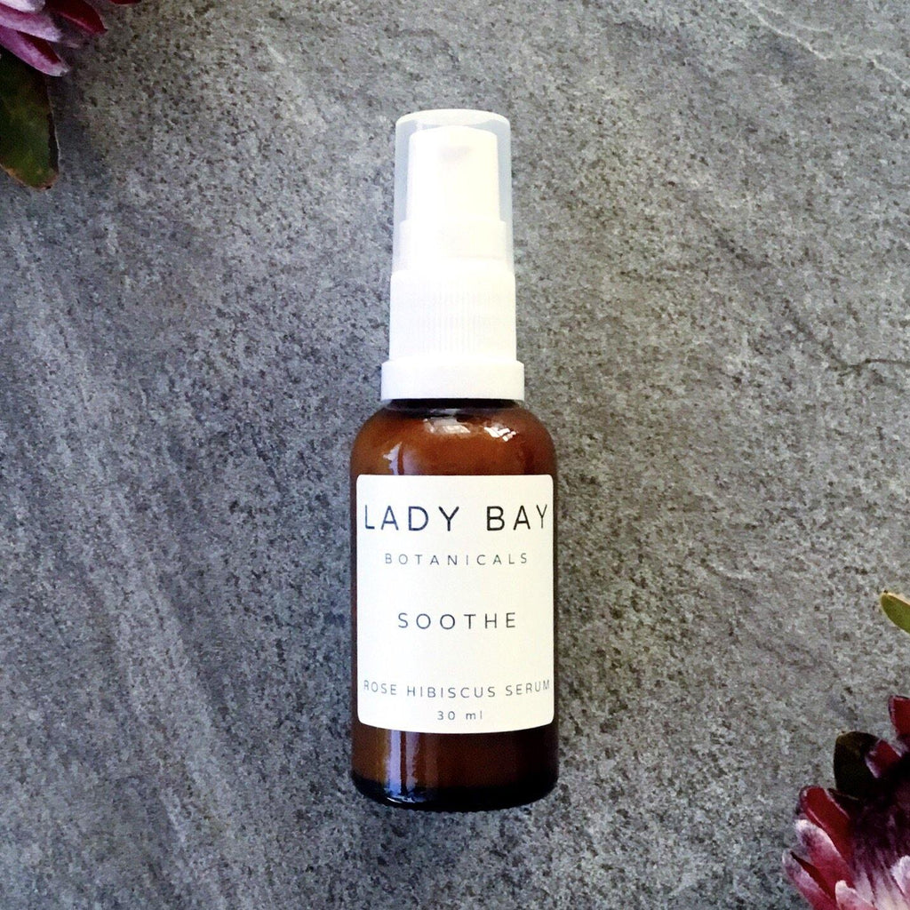 Soothe - Rose Hibiscus Antioxidant Serum Australian Made Organic + Natural Skincare Lady Bay Botanicals