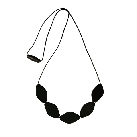 Large Tulip Necklace Black