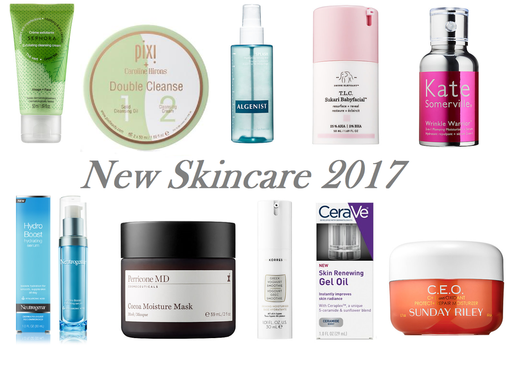 10 NEW SKINCARE PRODUCTS TO TRY IN 2017