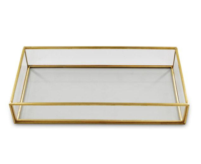 Gold Framed Makeup Tray