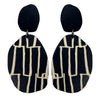 Black and City pattern earrings