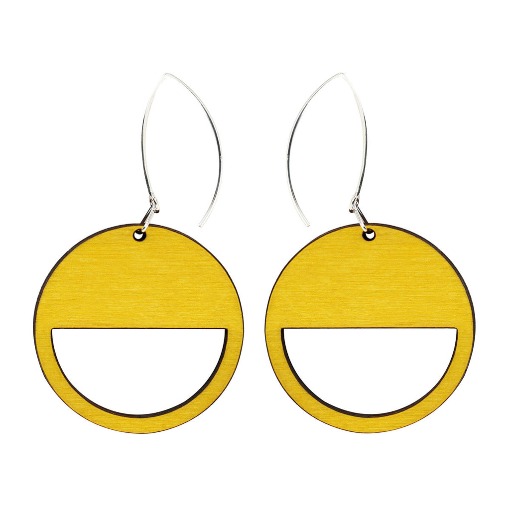 Geo earrings in yellow