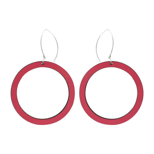 Hoop earrings in pink