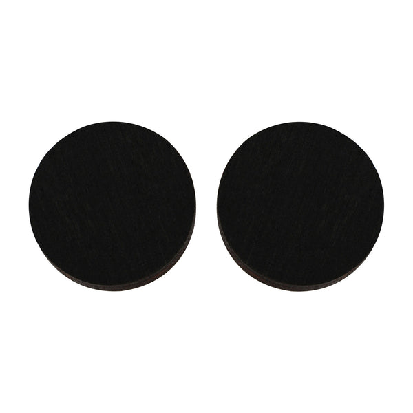 Circle studs in black