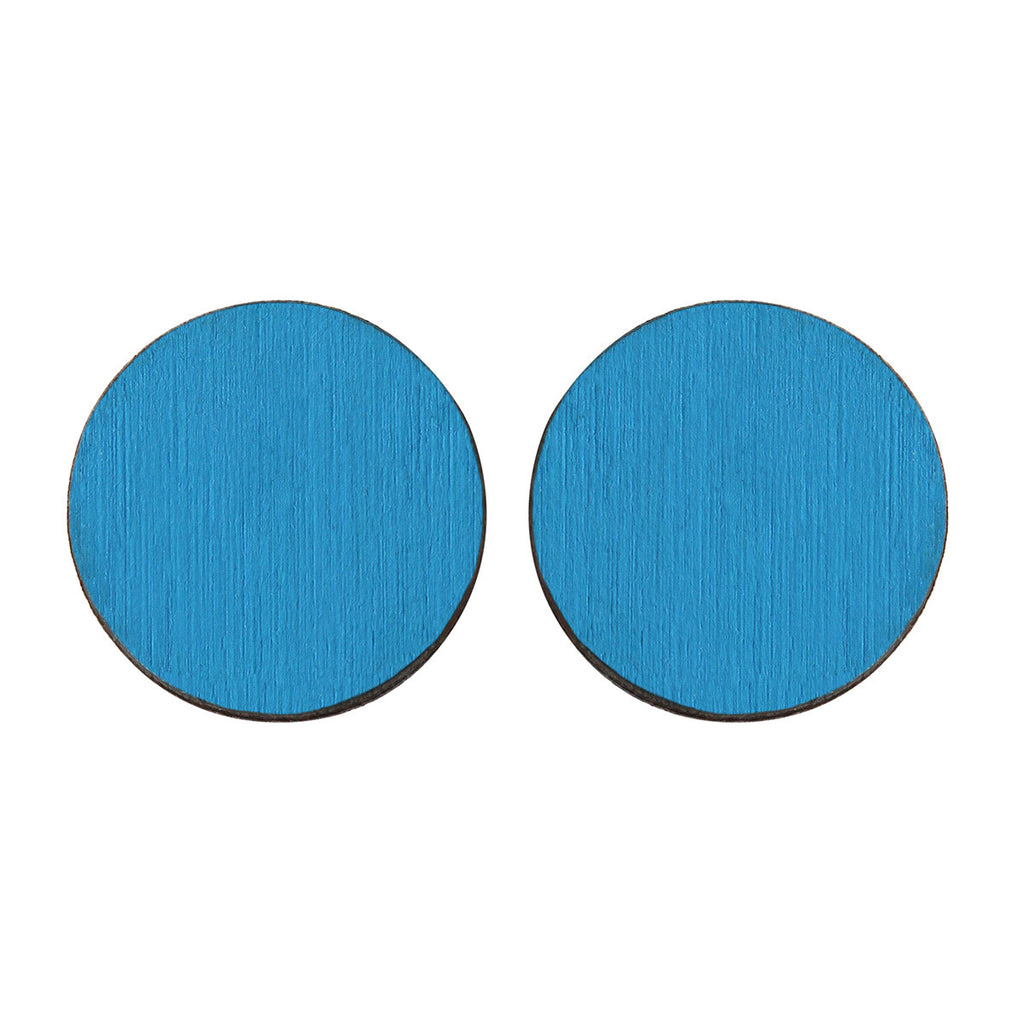 Circle studs in blue