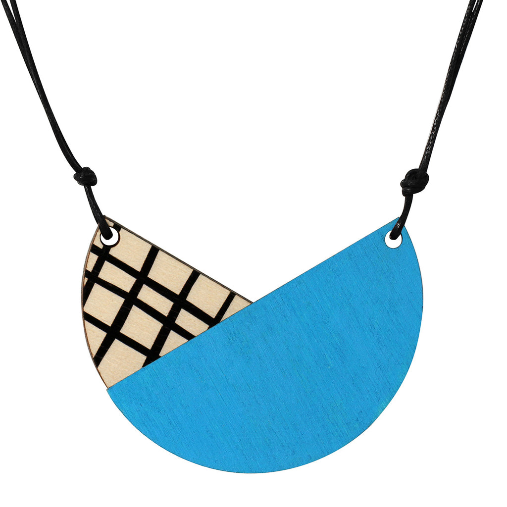 Tulip necklace with crosses in blue
