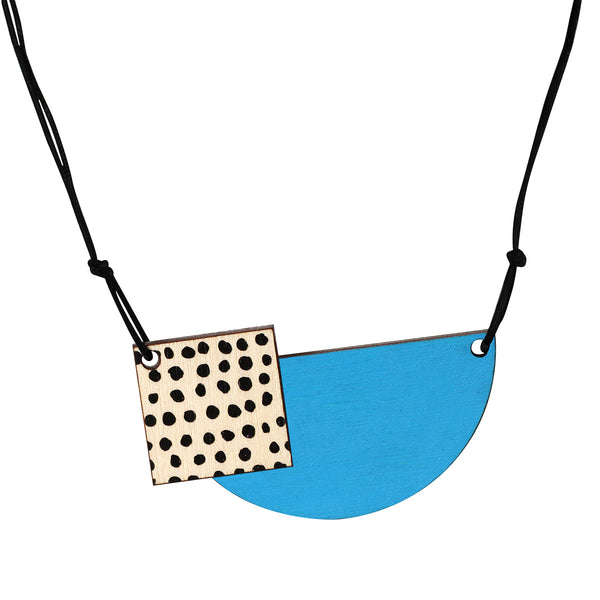 Spots necklace in blue