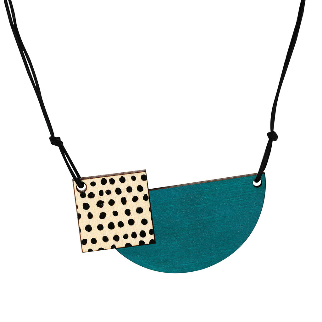 Spots necklace in green