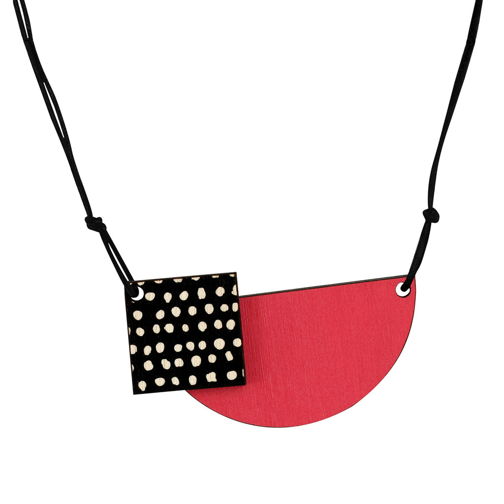 Spots necklace in pink