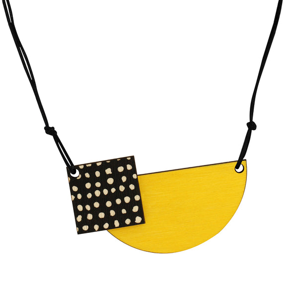 Spots necklace in yellow