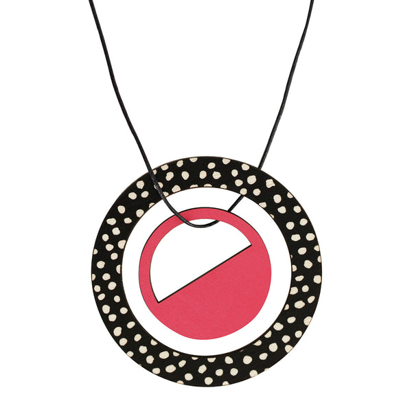 Pendant in pink with spots