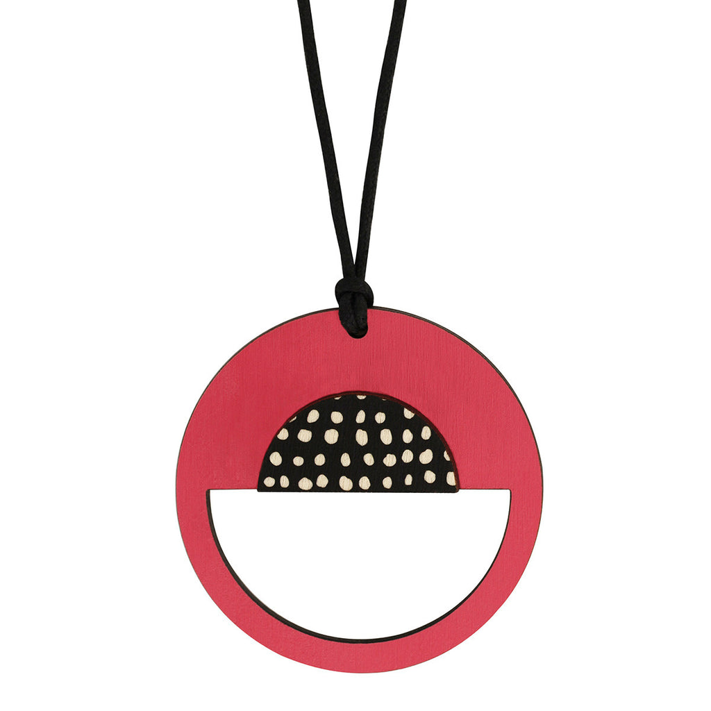 Spotted pink pendant