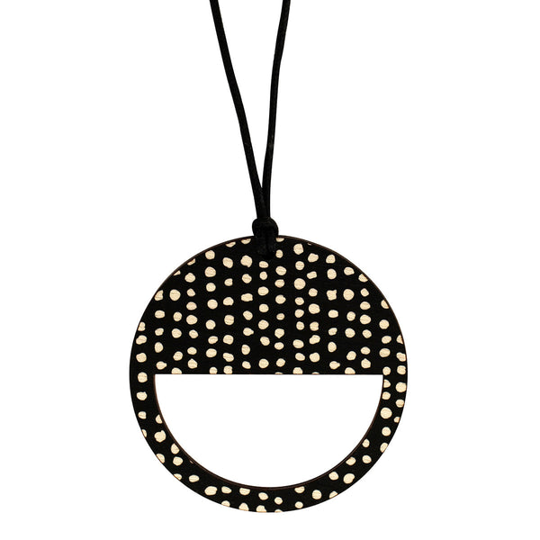 Black pendant with spots