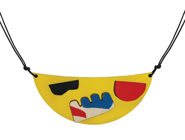 Abstract yellow necklace